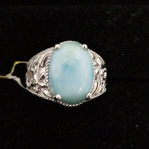 Jewelry - Sterling silver larimar ring .